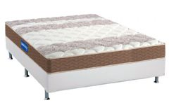 Conjunto Box: Colchão Probel Espuma D33 Guarda Costas + Cama Box Courino White