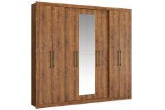 Guarda Roupa Carraro 1096 Héster 8 Portas 4 Gavetas c/ Espelho