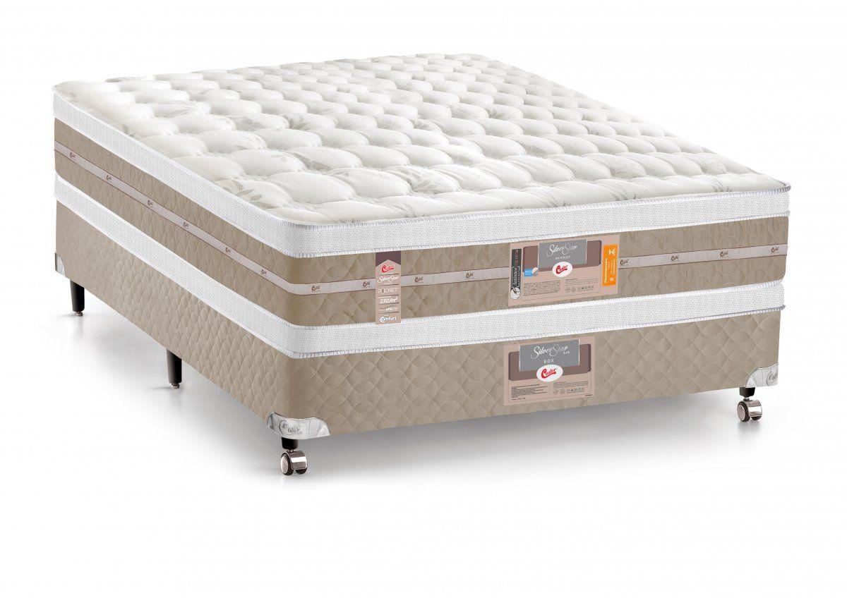 Colchão Castor de Molas Pocket Silver Star Air Double Face Euro Pillow
