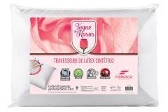 Travesseiro Fibrasca Toque de Rosas Látex Lavável