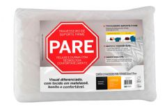 Travesseiro Fibrasca de Fibra Siliconizada Pare! c/ Suporte Firme