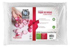 Travesseiro Fibrasca Toque de Rosas Plumax Lavável