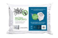 Travesseiro Fibrasca Saúde e Conforto c/ Íons de Prata