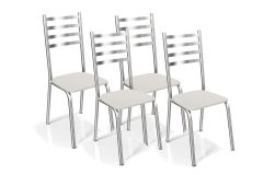 Cadeira Kappesberg Alemanha 4C086CR (2 Unidades)-Crome Aço