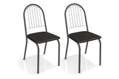 Cadeira Kappesberg Noruega 2C077PRF (2 Unidades)- Aço Color