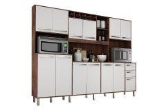 Cozinha Completa Valdemóveis Ágata (Armário+Gabinete+Nichos)