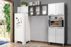 Cozinha Compacta Bertolini Múltipla CZM07 Aço 3 Peças (Paneleiro + 2Armários)