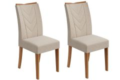 Cadeira Lopas Atacama Madeirado Rovere (Jogo c/ 2 unidades)