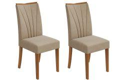 Cadeira Lopas Apogeu Madeirado Rovere (Jogo c/ 2 unidades)