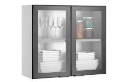 Armário de Cozinha Itatiaia Exclusive Aéreo Aço ARM 2PT VD ALTO 80 c/2 Portas de Vidro