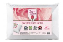 Travesseiro Fibrasca Visco Super Toque de Rosas