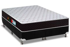 Conjunto Box -Colchão Castor D28 Sleep Max+Box  Nobuck Black