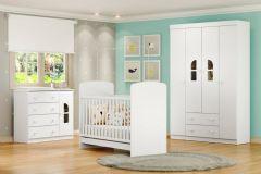 Quarto Infantil (bebê) Completo Multimóveis Bolinha de Sabão Qi41 (guarda Roupa+berço+cômoda)