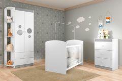 Quarto Infantil (bebê) Completo Multimóveis Ping Pong Qi42 (guarda Roupa+berço+cômoda)