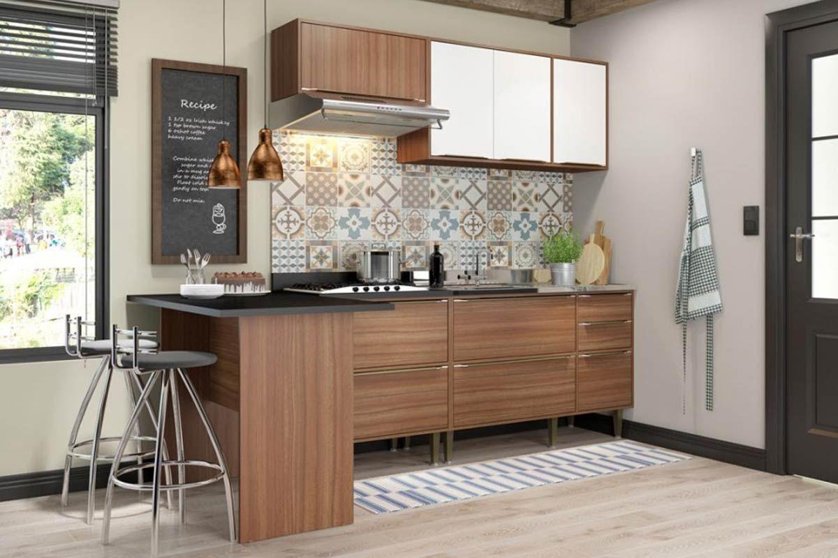 Cozinha Completa Multimóveis Cabrália 5455 5 Peças