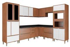 Cozinha Completa Multimóveis Calábria 5461 9 Peças