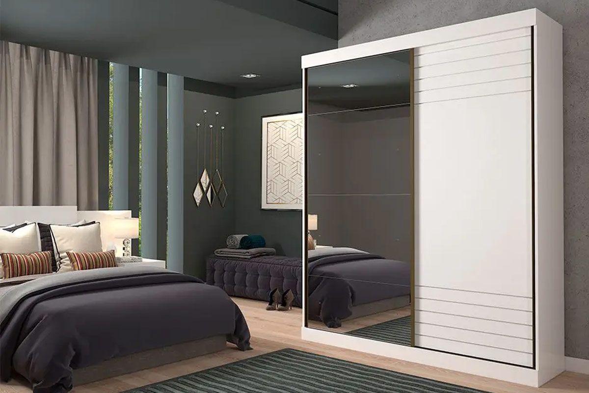 Guarda Roupa Panan Bia 2 Portas e 3 Gavetas c/ Espelho