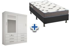 Guarda Roupa Novo Horizonte Sonare+Cama Box Ortobom Light