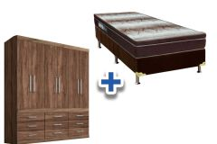 Guarda Roupa Santos Andira Plus 6.9+Cama Box Ortobom Light