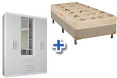 Guarda Roupa Star 5.3+Cama Box Orthoflex D28 Comfortpedic