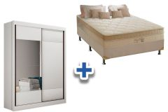 Guarda Roupa Falco+Cama Box Anjos Superlastic King Best