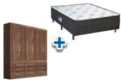 Guarda Roupa Santos Andirá H Plus 6.9+Cama Box Ortobom Union