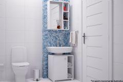 Conjunto de Banheiro BRV BKB 01 Armário+Gabinete