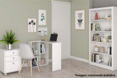 Conjunto Office BRV BKO 23 (Estante+Escrivaninha+Gaveteiro)