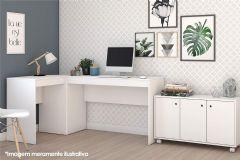 Conjunto Office BRV BKO 31 (Balcão + Mesa de Escritório)