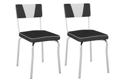 Cadeira Pozza Retrô PC13 (2 Unidades)-Aço
