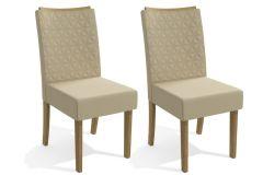 Conjunto c/ 2 Cadeiras Kappesberg 2CAD129 Freijó