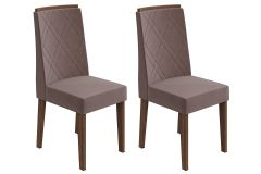 Cadeira Lopas Privilege Madeirado Imbuia (Jogo c/ 2 Unidades)