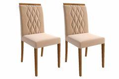 Cadeira Cimol Juliana Madeira (Jogo c/ 2 unidades)