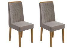 Cadeira Lopas Exclusive Madeirado Rovere Jogo c/ 2 Unidades