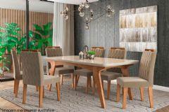 Sala de Jantar Cimol Mesa Selena 180cm + 6 Cadeiras Paola