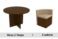 Sala De Jantar Kappesberg Nirá + 4 Cadeiras CAD800