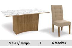 Sala De Jantar Kappesberg Mesa Cidra + 6 Cadeiras CAD111