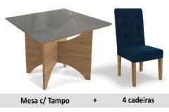 Sala De Jantar Kappesberg Mesa Camomila + 4 Cadeiras CAD111