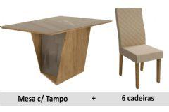 Sala De Jantar Kappesberg Mesa Jasmin + 6 Cadeiras CAD132