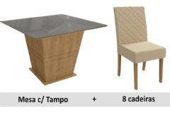 Sala De Jantar Kappesberg Mesa Pitanga + 8 Cadeiras CAD133