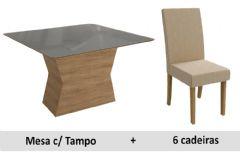 Sala De Jantar Kappesberg Mesa Tília 6 Cadeiras CAD131
