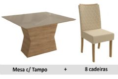 Sala De Jantar Kappesberg Mesa Tília + 8 Cadeiras CAD129