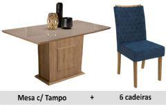 Sala De Jantar Kappesberg Mesa Acerola + 6 Cadeiras CAD129