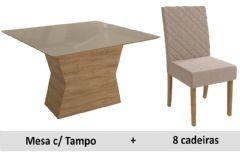 Sala De Jantar Kappesberg Mesa Tília + 8 Cadeiras CAD133