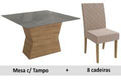 Sala De Jantar Kappesberg Mesa Tília + 8 Cadeiras CAD130