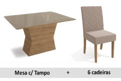 Sala De Jantar Kappesberg Mesa Tília + 6 Cadeiras CAD133