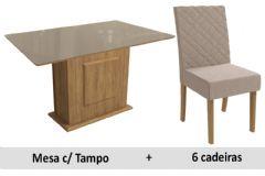 Sala De Jantar Kappesberg Mesa Acerola + 6 Cadeiras CAD133