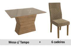 Sala De Jantar Kappesberg Mesa Tília + 6 Cadeiras CAD132
