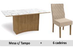 Sala De Jantar Kappesberg Mesa Cidra + 6 Cadeiras CAD130
