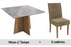 Sala De Jantar Kappesberg Mesa Lótus + 6 Cadeiras CAD133